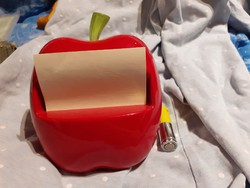 Post it alma alakú adagoló, piros alma, asztali jegyzet papír tartó postit 3M
