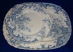 Sarreguemines fajansz  kínáló tál 6 db tányérral Fleury dekorral.