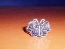 Pillangó mint. Tibeti ezüst ötvös Gyűrű 8-as
