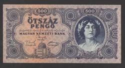 500 pengő 1945. Tökéletes UNC !!!