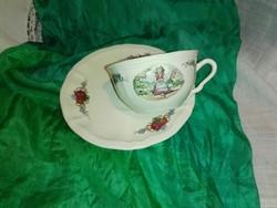 Sarreguamines, francia teás szett...fajansz.