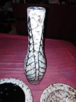 Retró szürke váza
