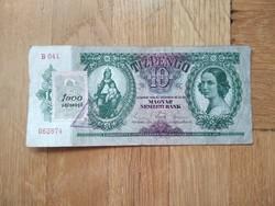 Ropogós 10 pengő bélyeggel és bélyegzéssel