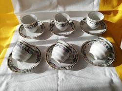 Kínai mokkás csészék aljjal