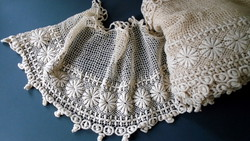 Díszes pamut csipke szalag vitrázs,ruha,terítő,függöny... 7,5 MÉTER !!!!