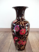 Zsolnay virág mintás eozin váza
