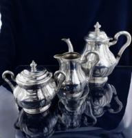 Antik ezüst kávé szett 980 g