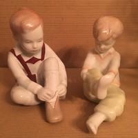 Aquincum öltözködő gyerekek, gyerekpár