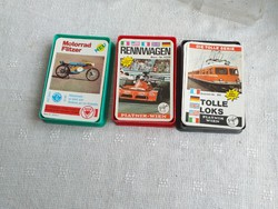 3 pakli retro kártya