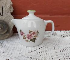 Hollóházi virágos rózsás  2 személyes  kotyogós porcelán kávéfőző teteje,kiöntő