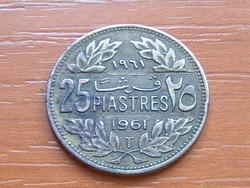 LIBANON 25 PIASZTER 1961 LIBANONI CÉDRUS Holland Királyi Pénzverde #