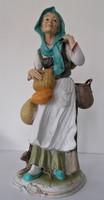 36 cm magas,Capodimonte /vagy jellegű/, olasz szobor/figura