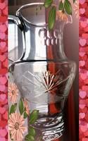 Antik csiszolt üveg kancsó