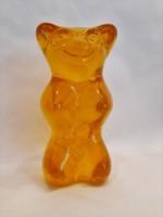 Nagyméretű tömör műanyag HARIBO maci szobor