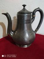 Antik  ezüstözött teáskanna (19.sz. vége)