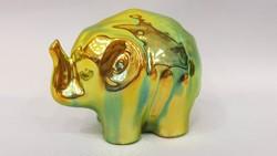 Zsolnay eozin mázas elefánt