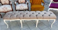 Barokk kárpitos pad szófa kanapé