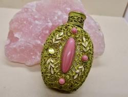 Ritka antik parfümös üveg  szép kövekkel