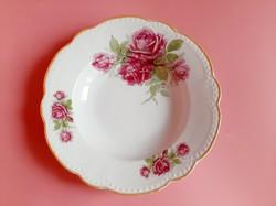 Zsolnay rózsás tányér