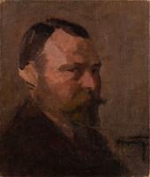 Pólya Tibor (1886-1937) Férfi portré