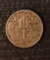 1 korona 1913 ezüst pénz