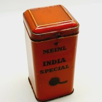 MEINL Régi antik tea teás lemezdoboz lemez doboz 30-as évek 10 cm magas