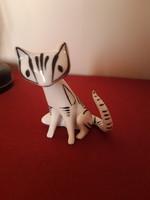 Retro Hollóházi cica figura