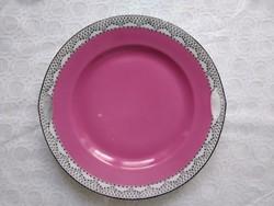 Victoria Csehszlovákia pink/rózsaszín füles kínáló tányér