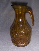 Retro borostyán színű üveg kancsó kiöntő 1,2 literes (8/d)