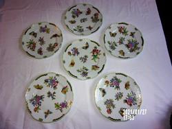 Herendi Viktória mintás süteményes tányérok (6 db)