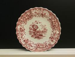 5 db, antik, angol fajansz Copeland - May dekor, lapos és mély tányér, kínáló