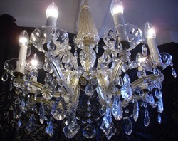 Mária Terézia stílusú kristálycsillár 8karos csillár