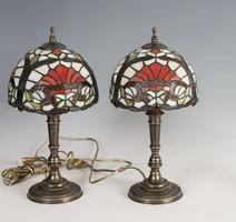 Tiffany stílusú asztali lámpa párban