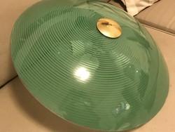 Retro mennyezeti lámpa zöld spirál dekorral, 59 cm átmérő