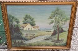 Ismeretlen festő – Vidéki nyugalom című festménye – 32.