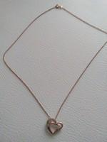 Rose aranyozott ezüst nyaklánc medállal