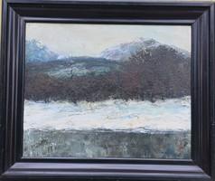 Szentgyörgyi Sándor – Téli táj című festménye – 35.