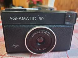 AGFAMATIC 50  fényképezőgép  bőrtokban eladó!
