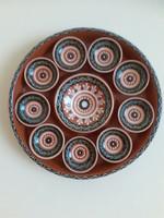 Retró kerámia falidísz, fali tányér. 28 x 5 cm .