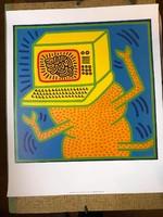 Keith Haring (1958-1990)1Kocka-fej' Giclé-nyomás - 2008-ban Kaith Haring alapítvány kiadása!