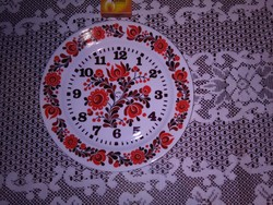Alföldi porcelán falióra, tányér óra - szerkezet nélkül