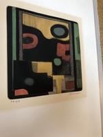 André Minaux (Francia, 1923–1986) Eredeti szinezett rézkarc !! E.A. példány,aláírt+szárazbélyegző