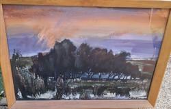 Ismeretlen festő – Vadászlesen című festménye – 40.