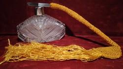 Metszett kristály parfümös üveg - pumpás