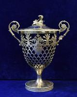 Ezüst urna cukortartó