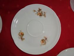 Drasche porcelán teáscsésze alátét, barna mintával, átmérője 16 cm.