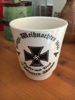 Birodalmi ,vaskereszt ,náci,motívumos bögre,kerámia