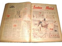 Ludas Matyi TELJES 1955 év 1-52 sz. Szatírikus hetilap XI. évf.