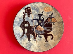 Pál Ferenc nagyméretű extra különleges kerámia tál, falitál, falidísz   38 cm