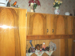 Retro, 3 db-os nappali szekrény, 60-as évek 370 cm-es szekrénysor, darabra is